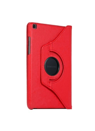 "Microsonic Samsung Galaxy Tab S6 Lite 10.4"" P610 Kılıf 360 Rotating Stand Deri Kırmızı"
